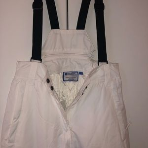 Pants - Brand new white snow pants with bib
